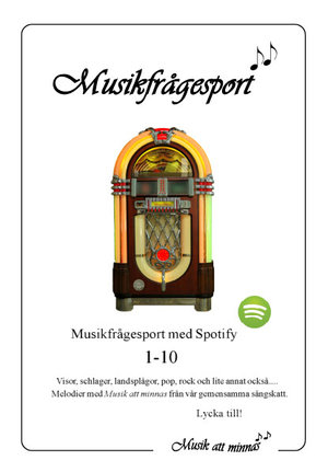 Musikfrågesport 1-10